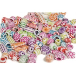 Multimix perler i bøtte - Pearln Fun