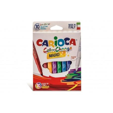 Magiske tusser - 10 farver i æske - Carioca