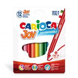 Vaskbare dobbelt-tusser - 12 farver i æske - Carioca