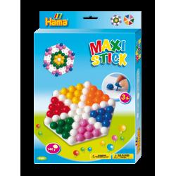 Maxi stick stiftmosaik (140 stk.) med plade - Hama