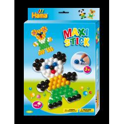 Maxi stick stiftmosaik (140 stk.) med plade - Bjørn - Hama