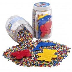 9000 perler med 3 plader - 13 farver - Hama (2083)