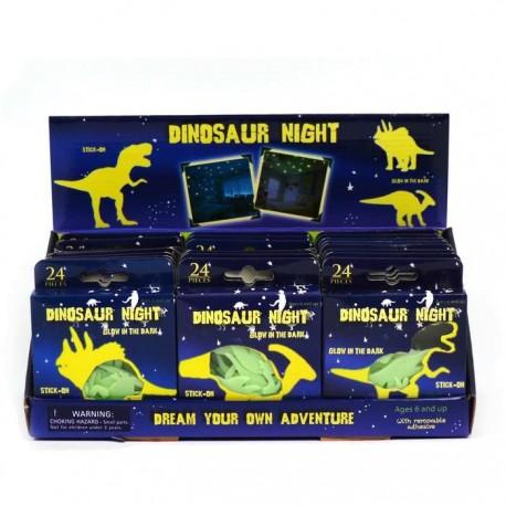 Selvlysende dinosaurer - Glow in the Dark - 24 stk.