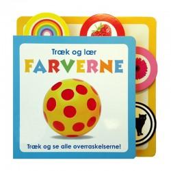 Træk og lær farverne papbog - Alvilda børnebog
