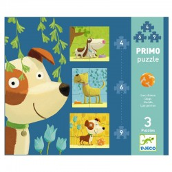 Hunde - 3 puslespil - Djeco