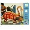 Dinosaur mosaik - Kreativ æske - Djeco