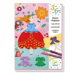 Smukke kjoler - Magiske tusser - Kreativ æske - Djeco