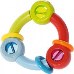 3 farvet rangle med ringe - HABA