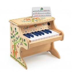 Klaver i træ med elektrisk lyd - Djeco musikinstrument