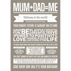 MUM + DAD  ME - Plakat A3 - I LOVE MY TYPE