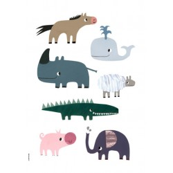 Smiling Friends - Happy Animals - Plakat A3 - I Love My Type