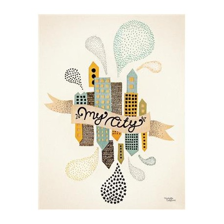 Michelle Carlslund plakat - My City Two