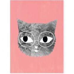 Audrey Jeanne plakat - Pels og briller