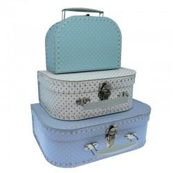 Lysturkis kuffert med prikker - Lille - Petit Jour