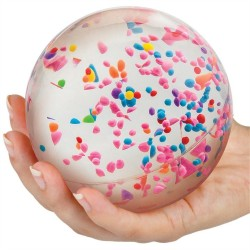 Kæmpe hoppebold med vand & farvet confetti - Tobar