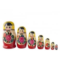 7 stk. Babushka dukker - Traditionel