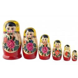 6 stk. Babushka dukker - Traditionel