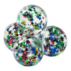 Hoppebold med glimmer stjerner