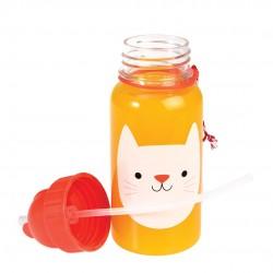 Katten Cookie - Drikkeflaske med sugerør - Rex London