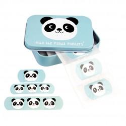 30 plastre i fin metal æske - Panda - Rex London