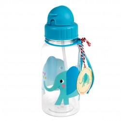 Elefant - Drikkeflaske med sugerør - Rex London