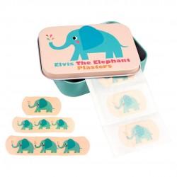 30 plastre i fin metal æske - Elefant - Rex London