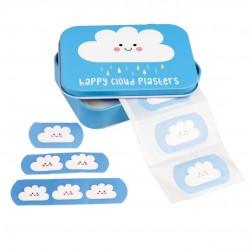 30 plastre i fin metal æske - Happy Cloud - Rex London