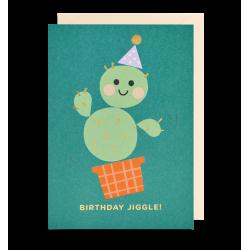 Birthday Jiggle! - Kort & kuvert - Lagom