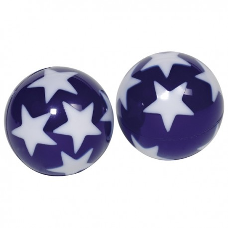 Selvlysende hoppebold med stjerner