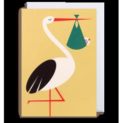 Stork med barn - Kort & kuvert - Lagom