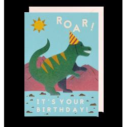 Dinosaur fødselsdagskort - Kort & kuvert - Lagom