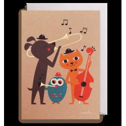 Animal Jazz - Kort & kuvert - Lagom