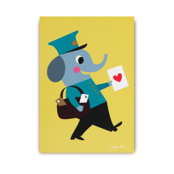 Postbud med lykønskningskort - Postkort - Lagom