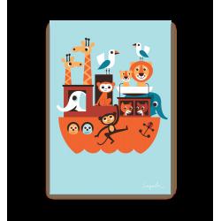 Noahs Ark dåbskort - Postkort - Lagom