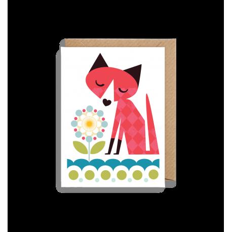 Sød ræv - Lille kort & kuvert - Lagom
