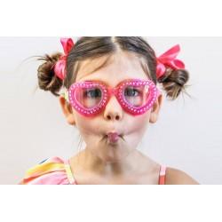 Lilla hjerte svømmebrille - Bling2O