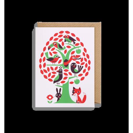 Fugletræet kort - Lille - Ingela P. Arrhenius