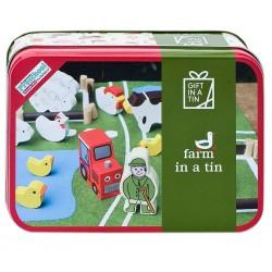 Mini bondegård med tilbehør - Gift in a tin