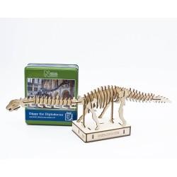 Saml din egen Diplodocus dinosaur - Gift in a tin