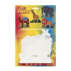 Elefant, giraf, løve og kamel - Midi stiftplader - Hama