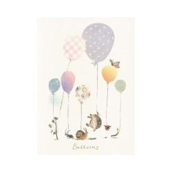 Balloner - Kort med kuvert