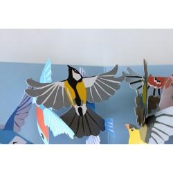Smukke fugle - Pop-up kort & kuvert - 2ToTango