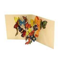Yndige sommerfugle - Pop-up kort & kuvert - 2ToTango