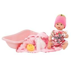 Aquini babypige med badekar og tilbehør - Badedukke - Götz