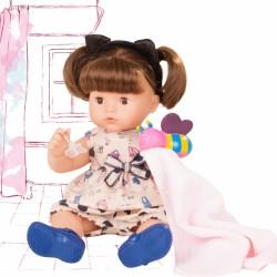 Maxy Aquini pige med brunt hår - Badedukke med tilbehør - Götz