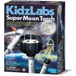 Skab din egen måne lommelygte - KidzLabs - 4M
