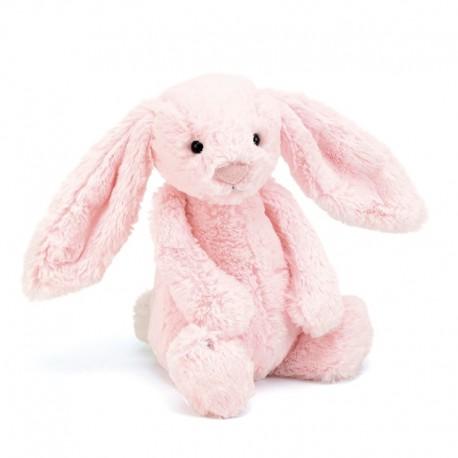 Lyserød kanin - Mellem bashful bamse - Jellycat