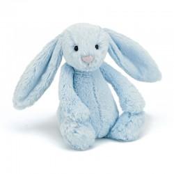 Lyseblå kanin - Mellem bashful bamse - Jellycat
