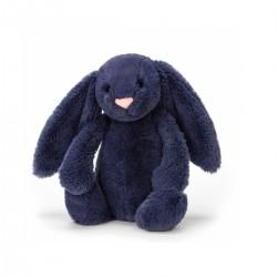 Marineblå kanin - Lille bashful bamse - Jellycat