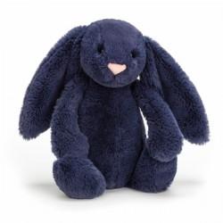 Marineblå kanin - Mellem bashful bamse - Jellycat